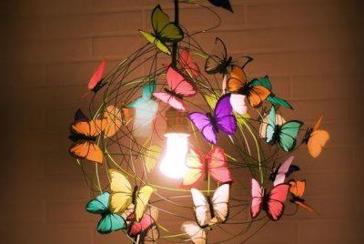 Декор бабочками